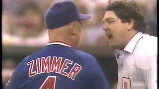 Don Zimmer fight with Umpire 1989