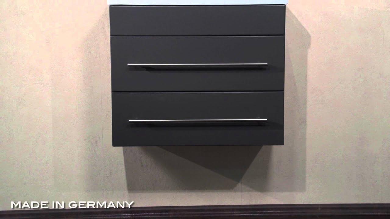 badm bel mars 600 slimline anthrazit seidenglanz youtube. Black Bedroom Furniture Sets. Home Design Ideas