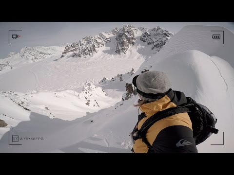 Travis Rice Knife Edge Ridge AK at ActionSportsVideo.com
