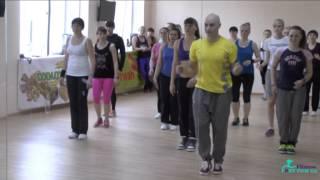 Танцевальная аэробика с раскладкой & Павлюк Сергей(Обучающее видео по аэробике от школы фитнеса