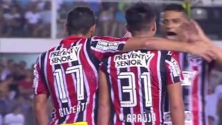Santos 1 x 3 São Paulo   Melhores Momentos   Campeonato Paulista
