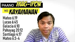 PAANO MAGIPON NG KAYAMANAN