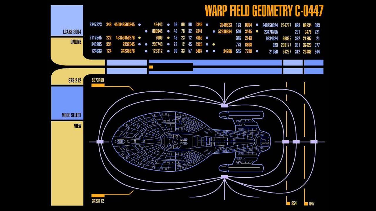 Star trek LCARS - Warp Field Geometry - YouTube