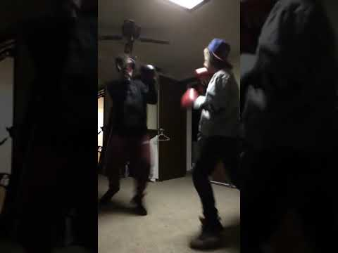 Boxing backyard (with music)