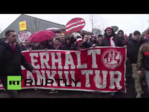 Germany: FC Cologne fans protest heightened security ahead of derby match