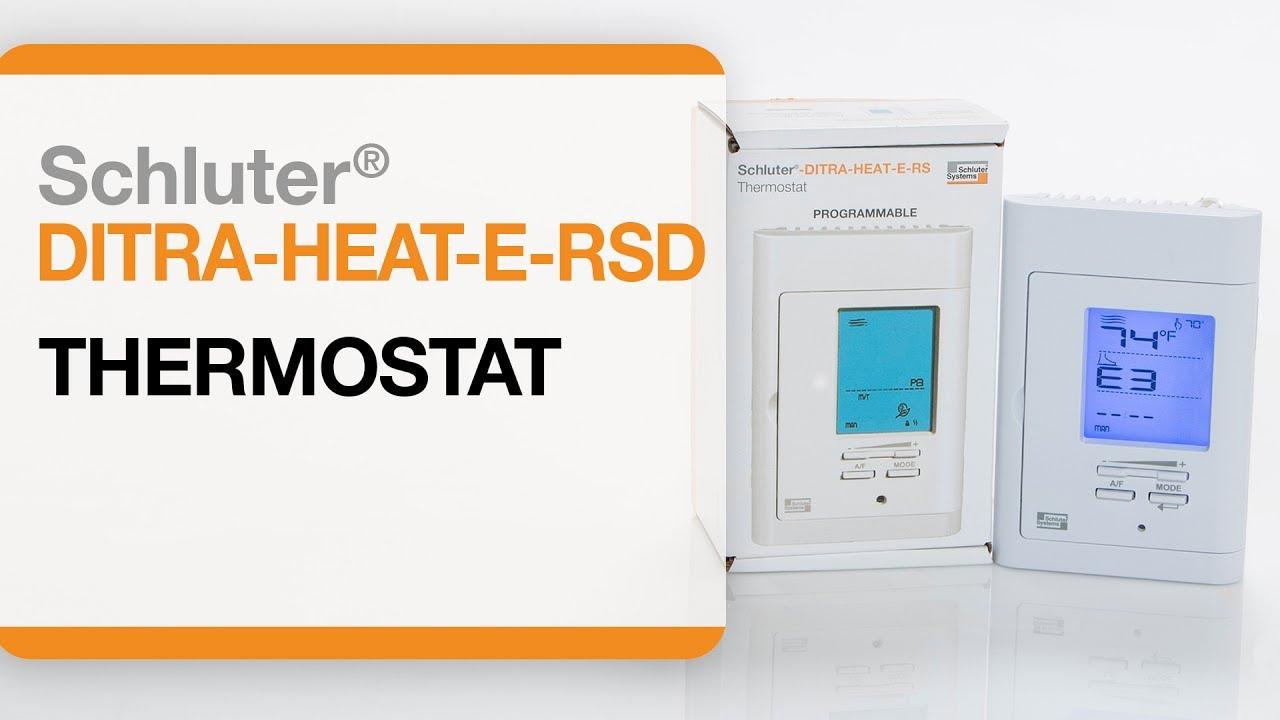 Comment Installer Un Thermostat Pour Plancher Chauffant électrique Schluter Ditra Heat E Rsd