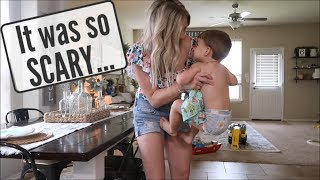 IT WAS SO SCARY... | A DAY IN THE LIFE SAHM | BRITTANI BOREN LEACH