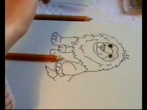 malvorlage löwe für kinder - youtube