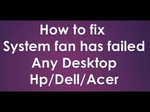 How to fix system fan has failed. (Sai Computer)