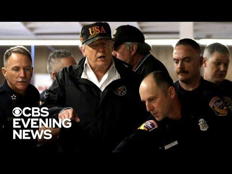 Trump meets California officials as wildfire death toll rises