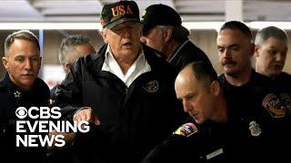 Trump meets California officials as wildfire death toll rises