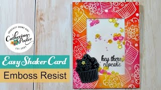 Easy Shaker Card with the White Emboss Resist Technique