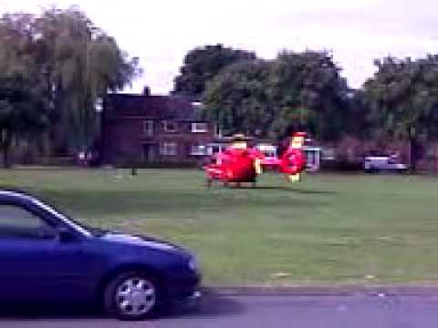 Rescue by County Midlands Air Ambulance Service (Helicopter) Shropshire/West Midlands