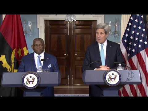 Secretary Kerry Delivers Remarks With Angolan Foreign Minister Chikoti