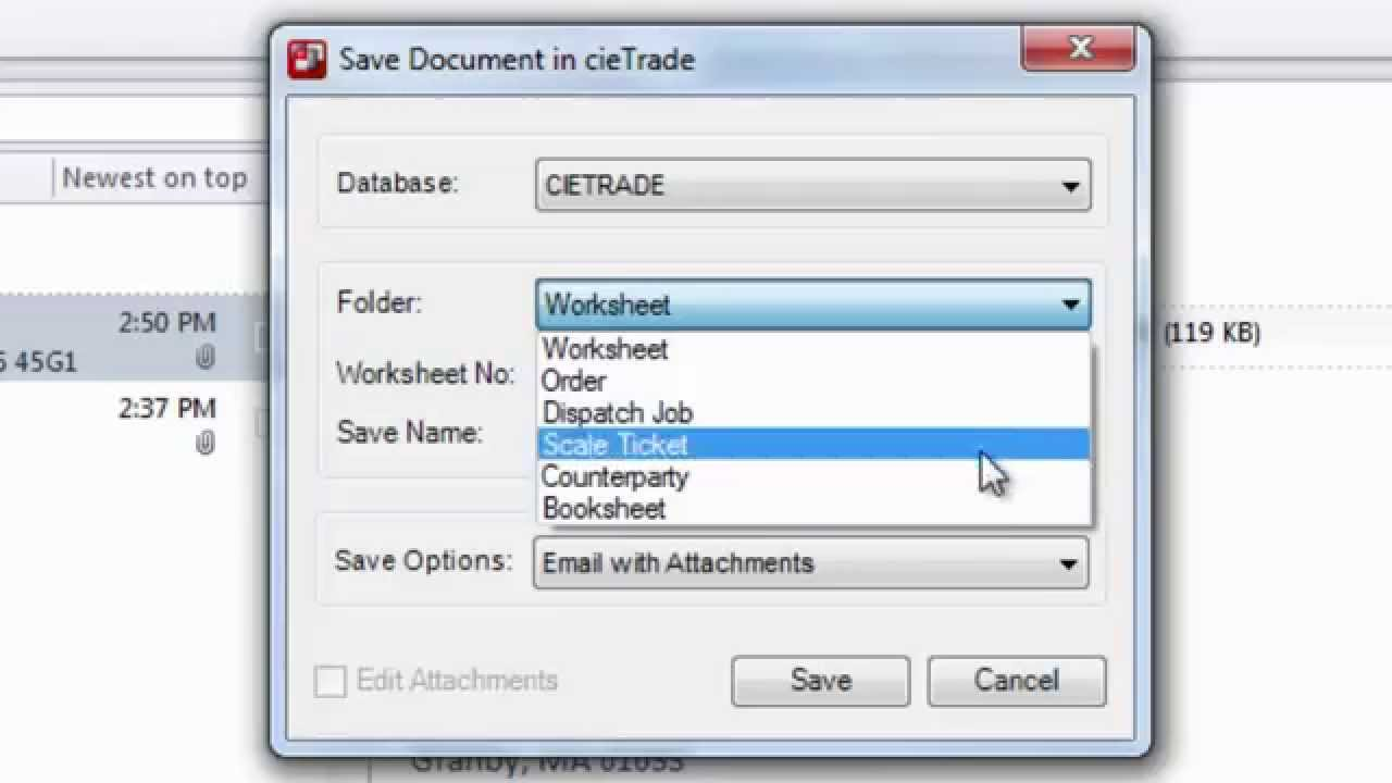 cieTrade's Microsoft Outlook Add-In