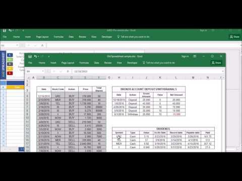 Stock Portfolio Excel Spreadsheet