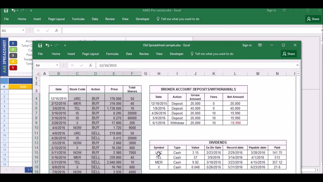 Stock Portfolio Excel Spreadsheet - YouTube
