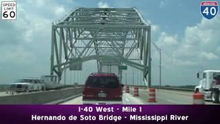 I-55 to I-240 to I-40 West: Memphis, TN