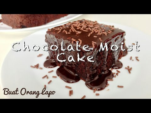 Easy Chocolate Moist Cake Recipe | Kek Coklat Moist Mudah