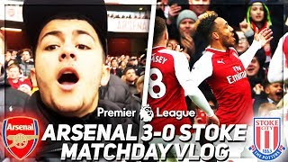 AUBAMEYANG!!!! | Arsenal 3-0 Stoke Match Day Vlog | 💥AFTV Young Gunz💥