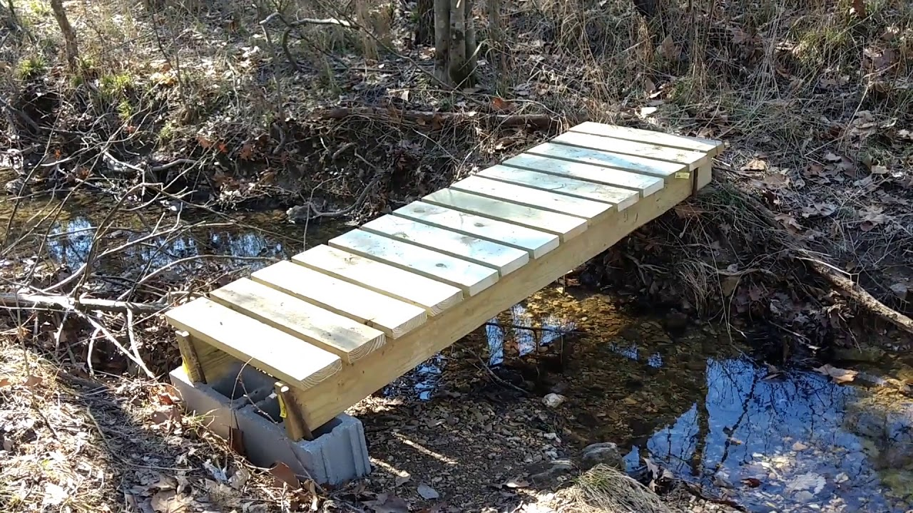 Building a Footbridge Over a Small Creek  YouTube