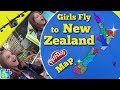 New Zealand Map || Girls Fly to Learn New Zealand Regions! || Play-Doh Puzzle