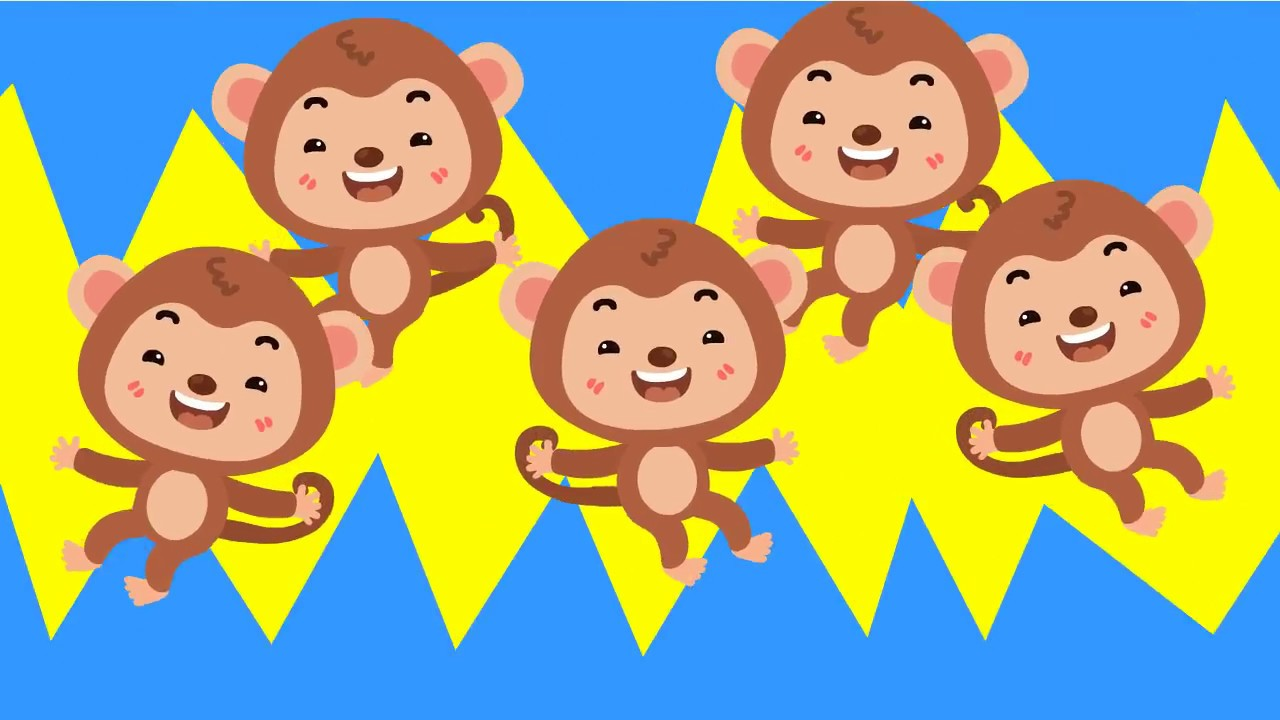 Five Little Monkeys   เพลงลิง 5 ตัว กระโดดบนเตียง   kids song   เพลงเด็ก น้องนะโม