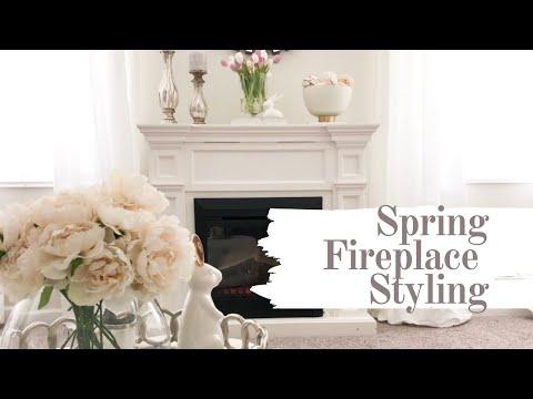 FIREPLACE MANTEL STYLING   SPRING DECOR