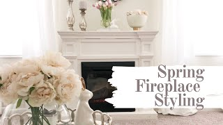 Gambar cover FIREPLACE MANTEL STYLING | SPRING DECOR