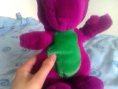1992 LyonsGolden Bear closed mouth Barney doll wTshirt  YouTube