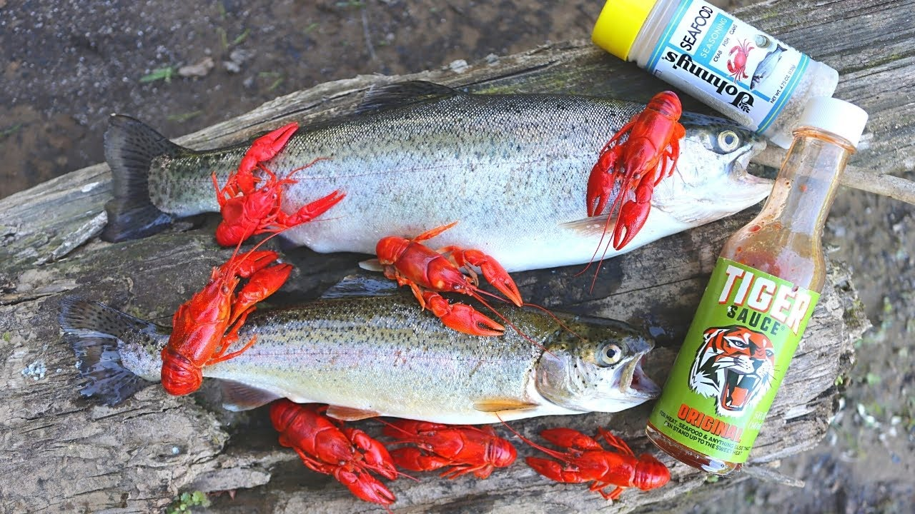 Crawfish and Trout Cookout on an Island!
