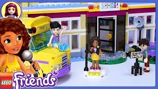 lego friends heartlake performance school build review silly play kids toys