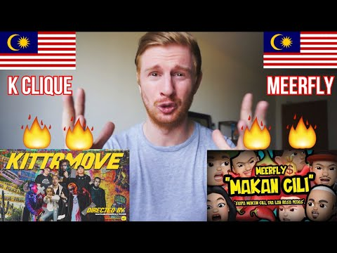 K-CLIQUE - KITTAMOVE AND MEERFLY - MAKAN CILI // MALAYSIAN RAP REACTION