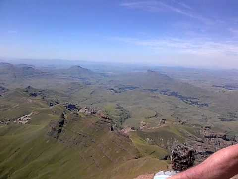 Mother heliographs family on Drakensburg Rhino Peak