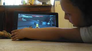Macey playing Roblox