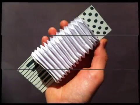 Аккордеон своими руками из бумаги