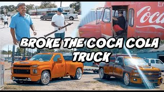 BROKE THE COCA-COLA BUS (DROPPING OFF GIVEAWAYTRUCK)