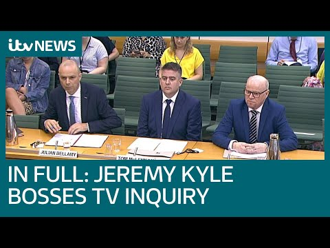 In full: ITV and Jeremy Kyle bosses give evidence at reality TV inquiry | ITV News