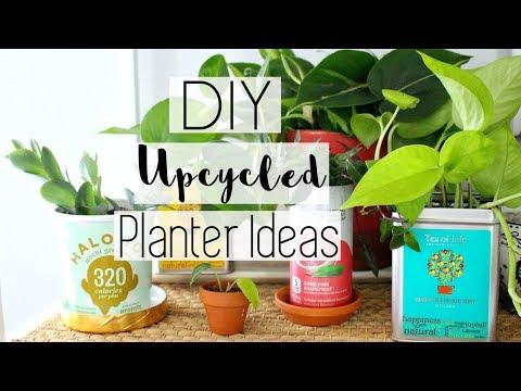 Upcycled Household Item Planters DIY | Free Upcycled Houseplant Pots