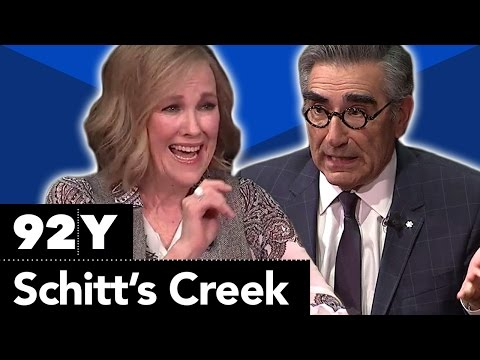 """Schitt's Creek"": Eugene Levy, Catherine O'Hara, Annie Murphy and Daniel Levy with Ophira Eisenberg"