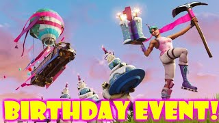 Fortnite BIRTHDAY EVENT (All Birthday Challenges & Rewards)