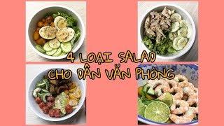 Lowcarb recipes #8 Daily menu - SALAD TỐC ĐỘ CHO DÂN VĂN PHÒNG