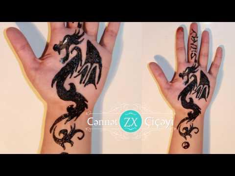 xına bəzəkləri  5 / henna design / Cənnət çiçəyi xınayaxdı