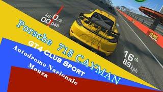 AUTODROMO NAZIONALE MONZA || Porsche 718 CAYMAN || GT4 CLUB SPORT