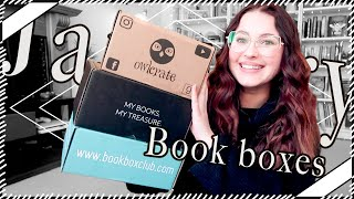 January's Owlcrate, FairyLoot & Book Box Club unboxings   Book Roast