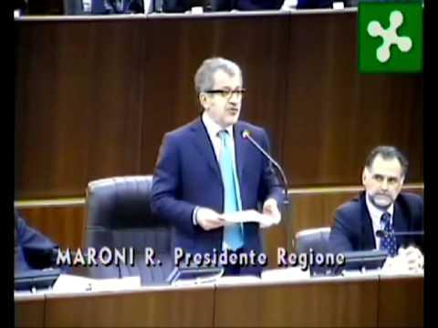 Regione Lombardia -  Intervento Maroni 27032013