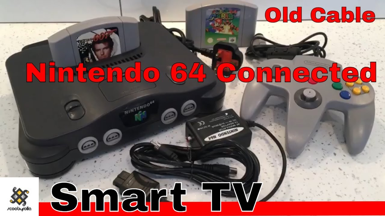 Nintendo 64 Connected To A Smart Tv With Old Cable Youtube Wiring Red Black