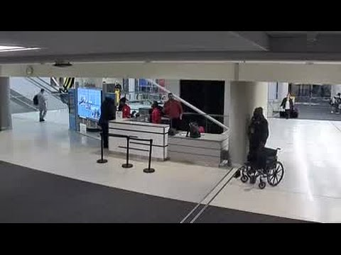 Airport releases security footage police say shows actor and comedian Faizon Love assaulting man in
