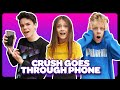 My CRUSH REACTS To My IPHONE Challenge SECRET TEXTS EXPOSED Sophie Fergi Jentzen Ramirez LEV mp3