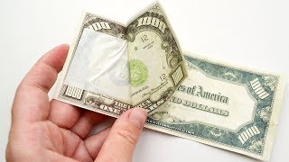 If you're afraid to use a DOUBLE-SIDED TAPE, this video is for you! DIY Dollar bills